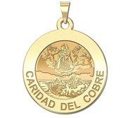 Caridad Del Cobre Round Religious Medal    EXCLUSIVE