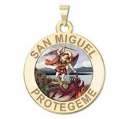 San Miguel Religious Round Color Medal   EXCLUSIVE