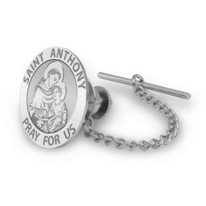 Saint Anthony Religious Tie Tack   EXCLUSIVE