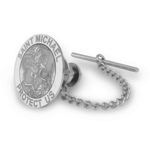 Saint Michael Religious Tie Tack   EXCLUSIVE