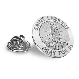 Saint Lazarus Religious Brooch  Lapel Pin   EXCLUSIVE
