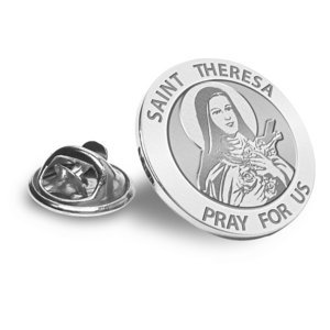 Saint Theresa Religious Brooch  Lapel Pin   EXCLUSIVE