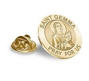 Saint Gemma Religious Brooch  Lapel Pin   EXCLUSIVE