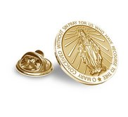 Miraculous Medal Religious Brooch  Lapel Pin   EXCLUSIVE