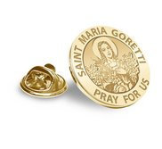 Saint Maria Goretti Religious Brooch  Lapel Pin   EXCLUSIVE