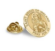 Saint Brigid of Ireland Religious Brooch  Lapel Pin   EXCLUSIVE