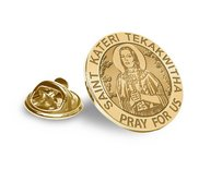 Saint Kateri Tekakwitha Religious Brooch  Lapel Pin   EXCLUSIVE