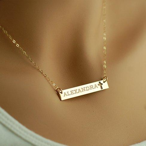name bar necklace canada