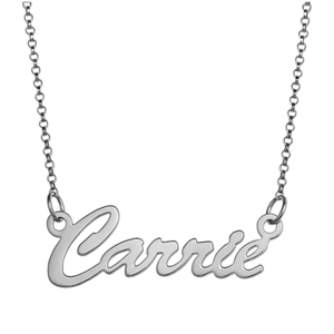 Script Name Necklace with Chain Included