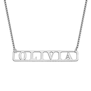 Name Bar Necklace with Chain Included