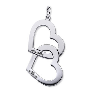 Interlocking Double Heart Name Necklace
