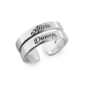 Sterling Silver Personalized Name Ring With Up To 3 Names