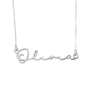 Minimalist Script Name Necklace with Chain Included