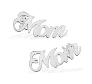 Pair Of Script Mom Earrings