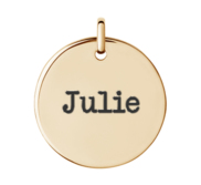 Round Disc Name Pendant or Charm