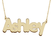 Classic Block Name Necklace w  Rolo Chain