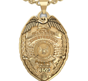 Personalized Michigan Police Badge w  Your Name  Rank  Number   Department