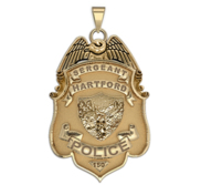 Personalized Hartford  Connecticut Police Badge with Number   Department