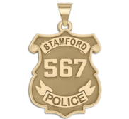 Personalized Stamford Connecticut Police Badge with Your Number
