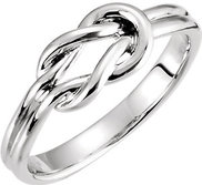 Sterling Silver Knot Ring w  Engravable Band