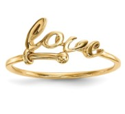 14k Yellow Gold Polished Love Ring
