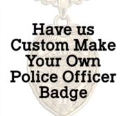 Personalized Police Officer Badge Pendant w  Your City Seal  Rank  Department  Name or Number