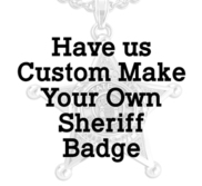 Personalized Sheriff Badge Pendant w  Your City Seal  Rank  Department  Name or Number