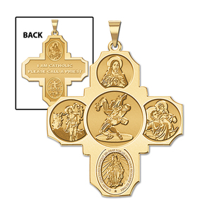 Four Way Cross   Wrestling Religious Medal   EXCLUSIVE