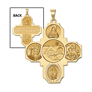 Four Way Cross   Swimming Female Religious Medal   EXCLUSIVE
