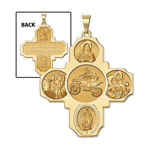 Four Way Cross   Motocross Religious Medal   EXCLUSIVE