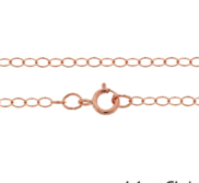 Solid 14k Rose Gold 1 4mm Cable Chain