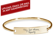 Personalized Handwriting Bangle Bracelet