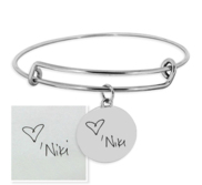 Personalized Handwriting Expandable Bracelet