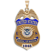 Personalized Federal Air Marshal Badge with Your Number and Enamel