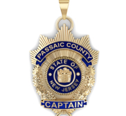 Personalized Police Badge Necklace or Charm   Shape 9