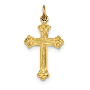 Sterling Silver   24k Gold  plated Cross Pendant