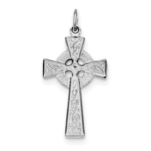 Sterling Silver Rhodium plated Celtic Cross Pendant