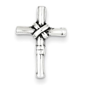 Sterling Silver Antiqued Cross Slide