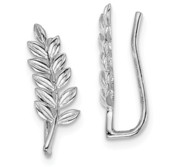 Sterling Silver Polished Floral Ear Climbers
