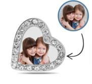 Additional Photo Engraved CZ Heart Charm