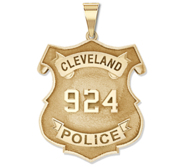Personalized Police Shield Ohio Badge with Your Department and Number