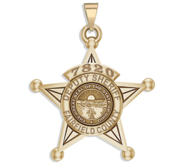 Personalized Ohio Sheriff Badge with Rank  Number   Dept