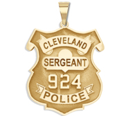 Personalized Police Shield Ohio Badge with Your Department  Rank and Number
