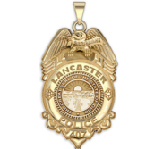 Personalized Lancaster Ohio Police Badge with Your Rank and Number