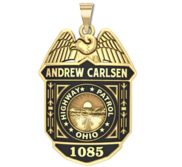 Personalized Ohio Highway Patrol Police Badge with Your Number