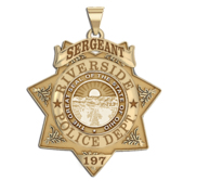 Personalized Riverside Ohio Badge with Rank and Number