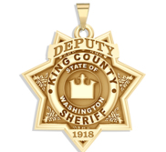 Personalized King County Washington Sheriff Badge with Rank and Number