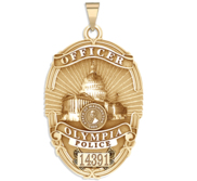 Personalized Olympia  Washington Police Badge with Your Rank and Badge Number