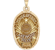 Personalized Lakewood  Washington Police Badge with Your Rank and Badge Number