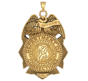 Personalized Alabama Corrections Badge with Your Number